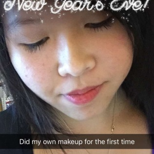 My make up trial run that I did on New Year's Eve which I ended up using New Year's night!